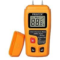 Humidimètre Bois RZMT-10 LCD Mesureur Numérique d'Humidité Instrument de Test d'Humidité de Bois Testeur Détecteur Outil Mesurer Teneur d'Humidité pour Mur Papier Carton Bois de Chauffage Plâtre