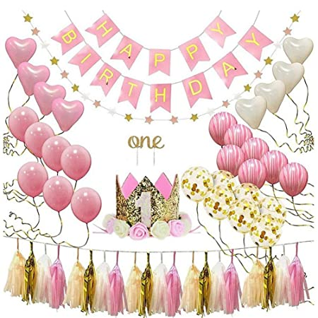 XHJZ-W Decoraciones de cumpleaños para niñas y niños con ...