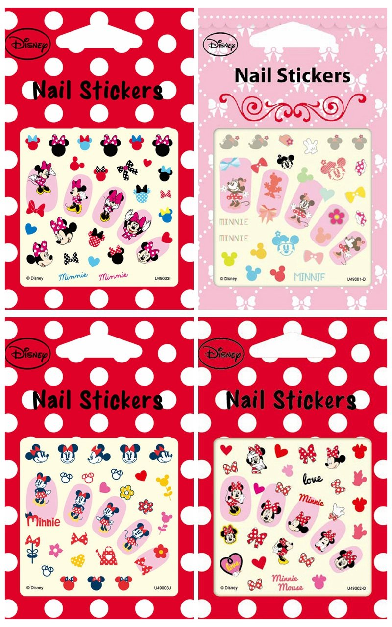 Amazon.com: Disney Nail Art stickers Cartoon Decoration Mix 4-Pack ...