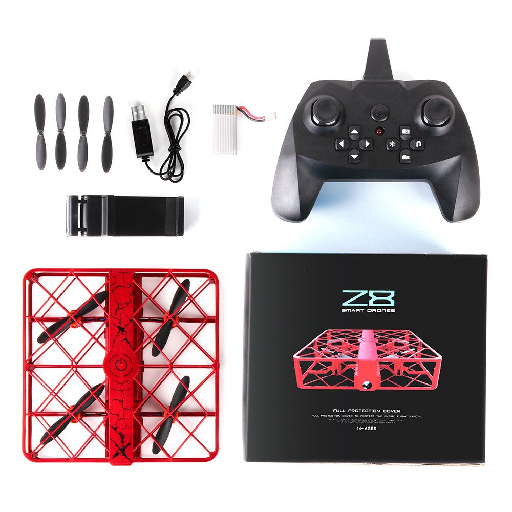 z8 RC Miniドローン0.3 MP WIFI 2.4 G 6軸Altitude Hold UFOクアッドコプターPocket Drone with one-key Return HDカメラfor Amateur B078NKTCB6 Drone|レッド レッド Drone