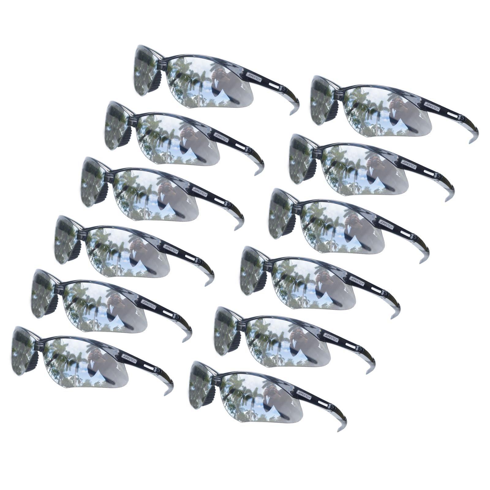 JORESTECH Eyewear - UV protection Safety Protective Glasses Case of 12 Mirror ANSI Z87+