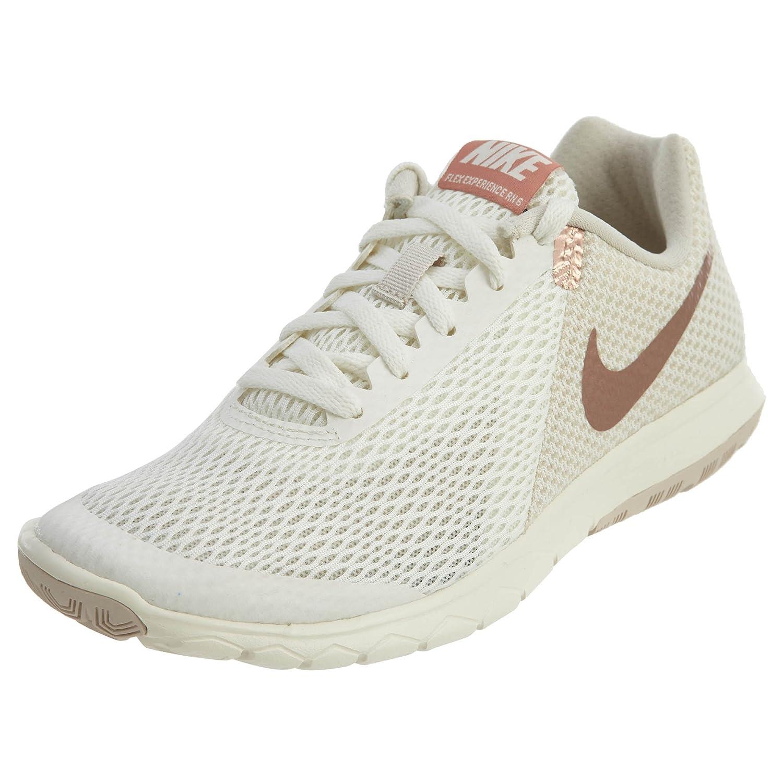 NIKE Women's Flex Experience RN 6 Running Shoe B06W55YF84 10 M US|Sail/Mtlc Rose Gold-lt Orewood Brn