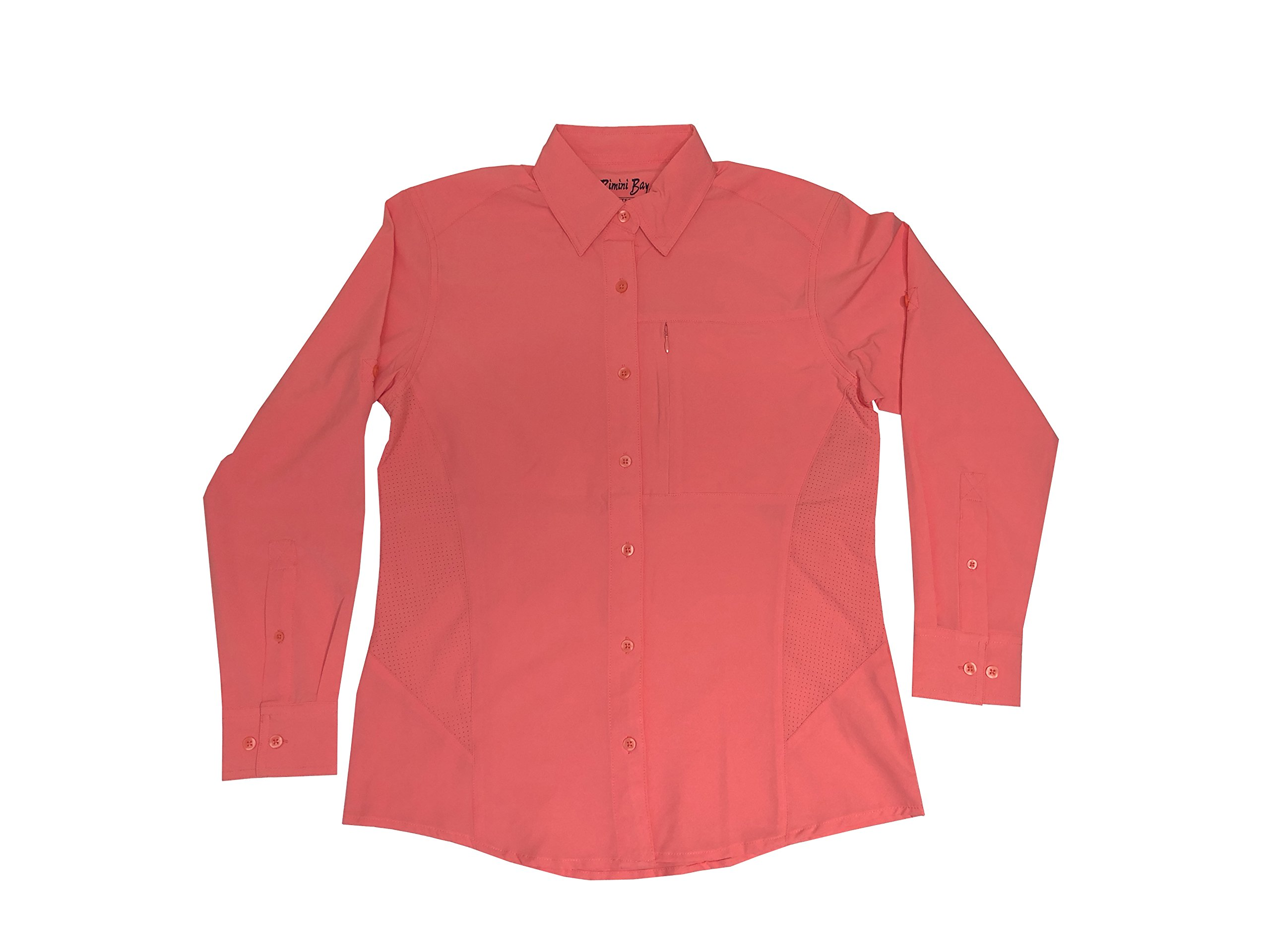 Bimini Bay Outfitters Clearwater Long Sleeve Women's Shirt (Coral, Large) by Bimini Bay Outfitters
