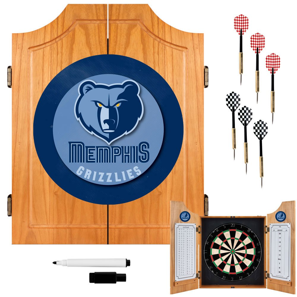 NBA Memphis Grizzlies Wood Dart Cabinet Set by Trademark Games