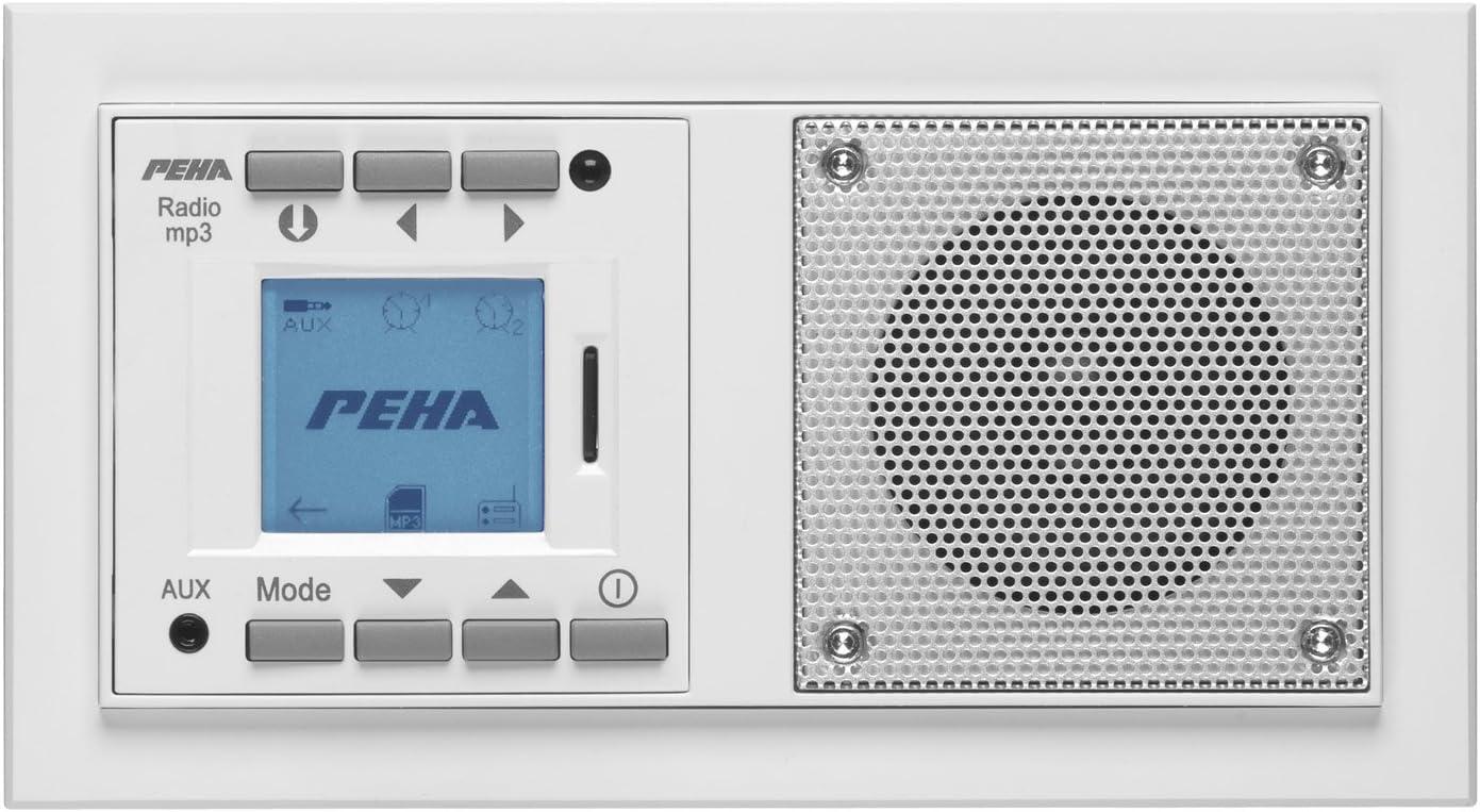 sans /émetteur Blanc Peha Radio lecteur MP3 encastrable AudioPoint design Nova