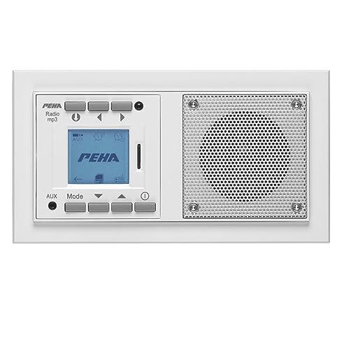 Schön Peha MP3 Unterputz Radio AudioPoint Im Nova Design Ohne Funksender, Rahmen  Reinweiß