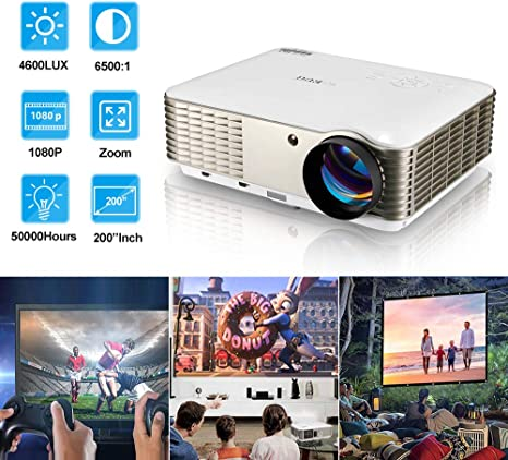 Amazon.com: EUG proyector 3LCD Cinema 640, HDMI, de 3200 ...