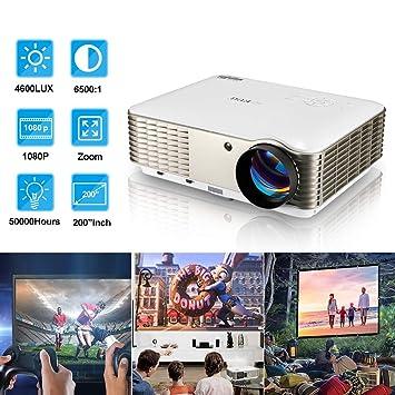 Proyector de video LCD HD 4500 Lumen Proyector de cine en casa con ...