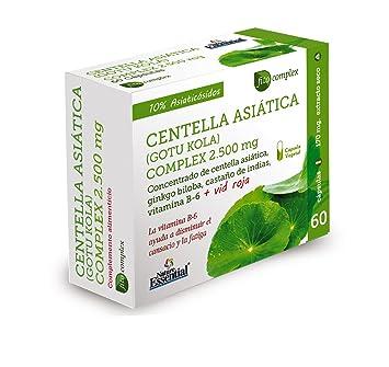 Nature Essential Centella Asiatica Complex 2500mg - 60 Cápsulas: Amazon.es: Salud y cuidado personal