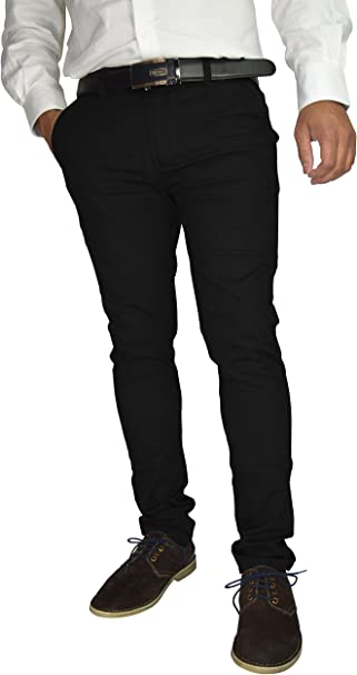 Mens Designer Trouser Chino Stretch Slim Fit Jeans Cotton All Size Waist Pants