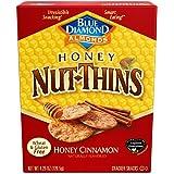 Blue Diamond Gluten Free Honey Nut-Thins Cracker Crisps, Honey Cinnamon, 4.25 Ounce