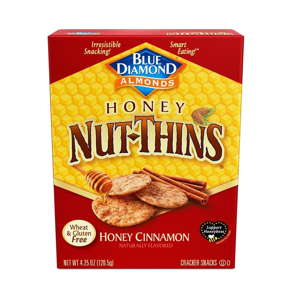 Blue Diamond Almond Nut Thins Cracker Crisps, Honey Cinnamon, 4.25 Ounce (Pack of 12) by Blue Diamond Almonds