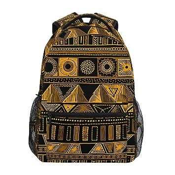 ZZKKO Mochila india mexicana tribal étnica azteca colegio libro bolsa de viaje senderismo camping Daypack: Amazon.es: Deportes y aire libre