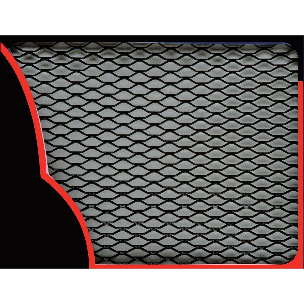 Sumex Silver Aluminium 33 x 100cm Car Grill Grille Vent Mesh Silver Hexagon Type