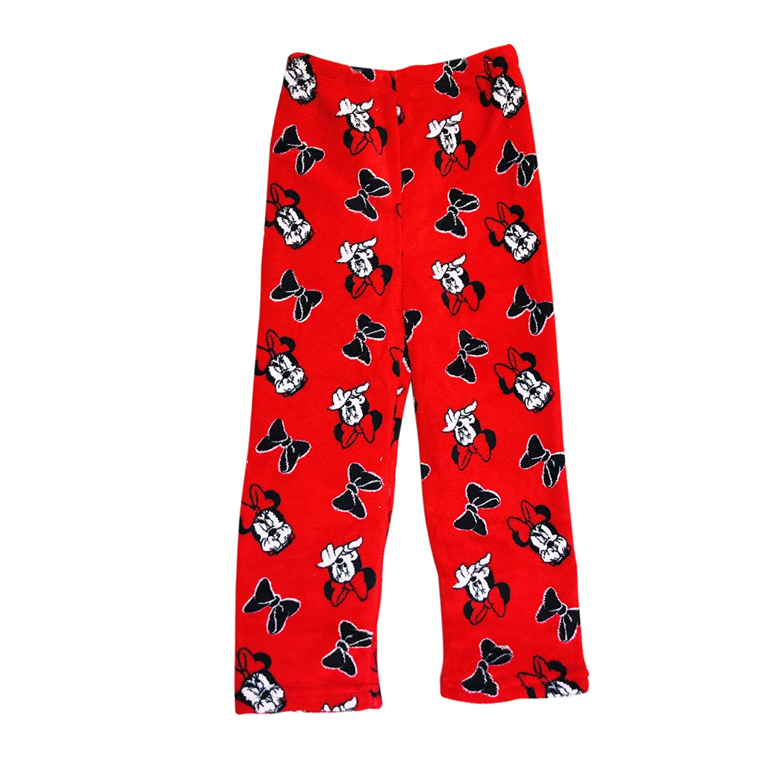 Minnie Mouse Pajama Pants RED with Minnie FACE and Bows Style