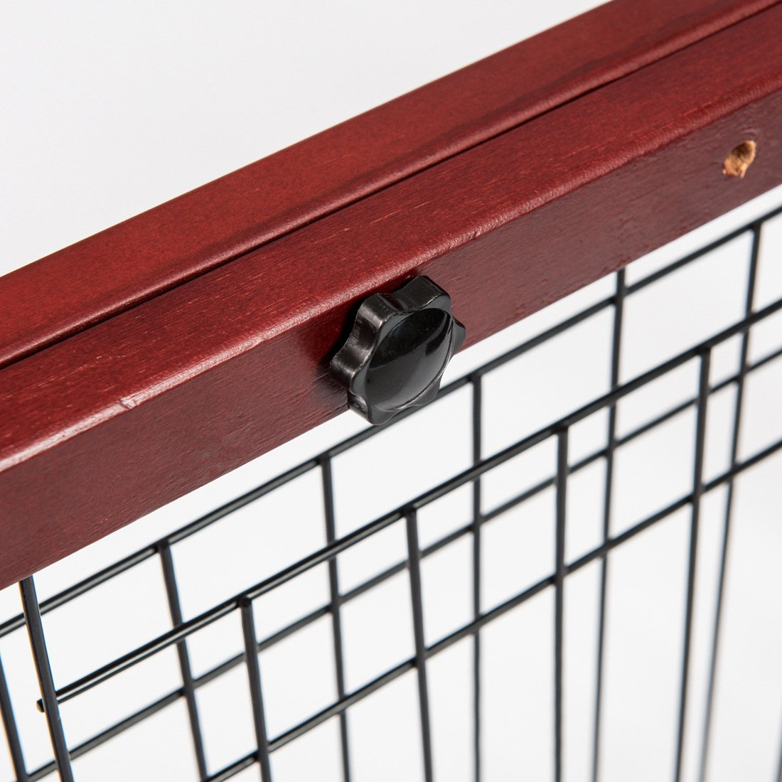 GOOD LIFE Wooden Fence Freestanding Pet Dog Gate Indoor Adjustable Gates for Home Coffee Color 72 Inch PET344 by GOOD LIFE USA (Image #6)