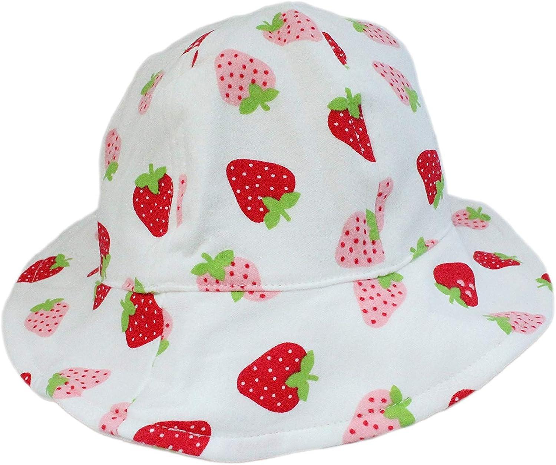 Baby Boy Girl Cotton White Animals Zoo Bucket Cowboy Sun Hat with Chin Strap
