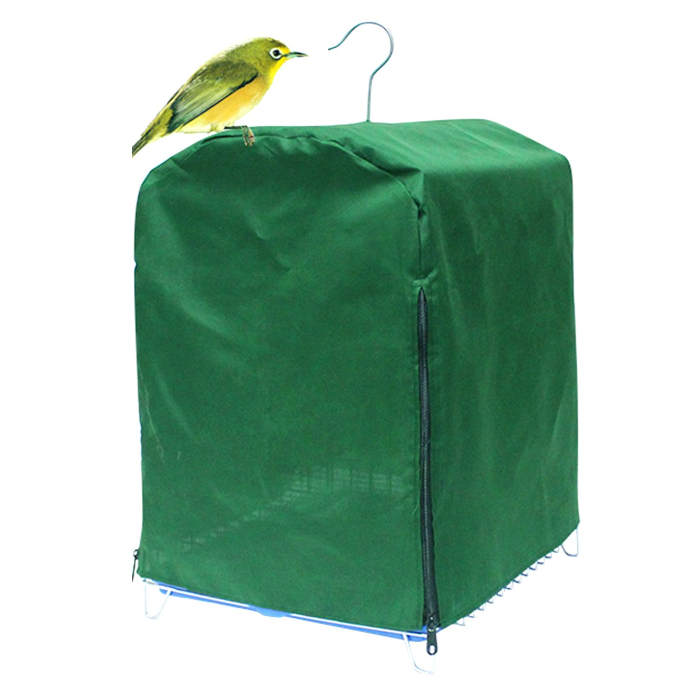 Alfie Pet by Petoga Couture - Sambird Bird Polyester Cage Cover - Color Green
