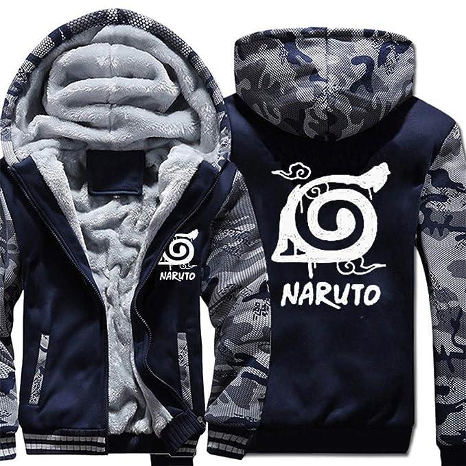 Cosstars Naruto Anime Sudadera con Capucha Sweatshirts Unisex Cosplay Disfraz Invierno Espesar Luminoso Suéter Chaqueta: Amazon.es: Ropa y accesorios