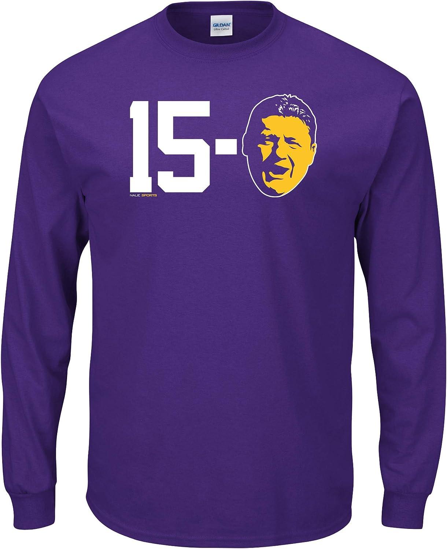 Nalie Sports Louisiana Football Fans. 15-O Purple T-Shirt (Sm-5X)