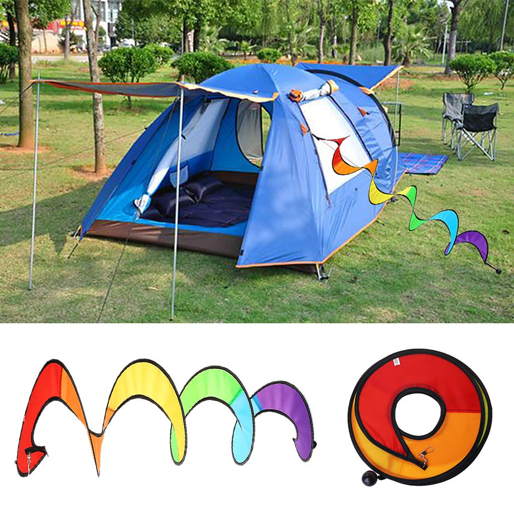 Amazon Com Gmsp Colorful Foldable Rainbow Spiral Windmills