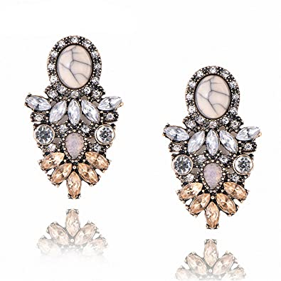 c9959baa62d15 Amazon.com: Good Quality Big Crystal Earring New Statement Fashion ...