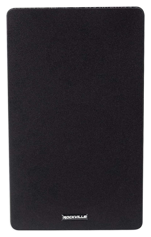 Pair ROCKVILLE RockShelf 68B Black 6.5 Home Bookshelf Speakers W//Kevlar Woofers