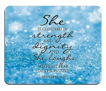1 X Winter Schneeflocken Glitzer Maus Pad Bibel Vers Spruche 31 25