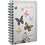 """Made New"" Butterfly Hardcover Wirebound Journal"