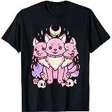 Kawaii Pastel Goth Cute Creepy 3 Headed Dog T-Shirt