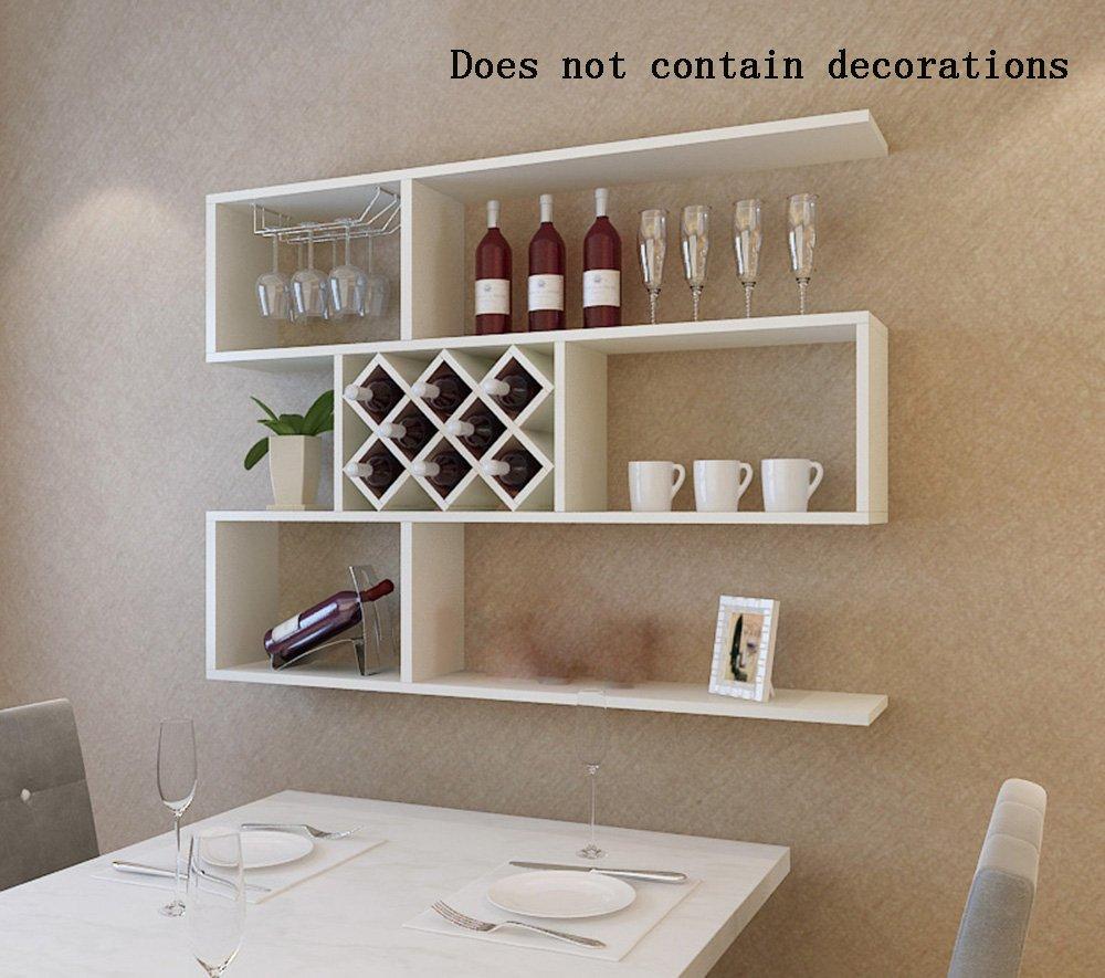 ALUP- 高密度パーティクルボードワインワインキャビネット/ワインラック/ワインカップホルダー/ウォールシェルフ/プラントスタンド/本棚、クリエイティブウォールデコレーションラック壁フレーム ( 色 : #2 ) B07C9TZXYM #2 #2