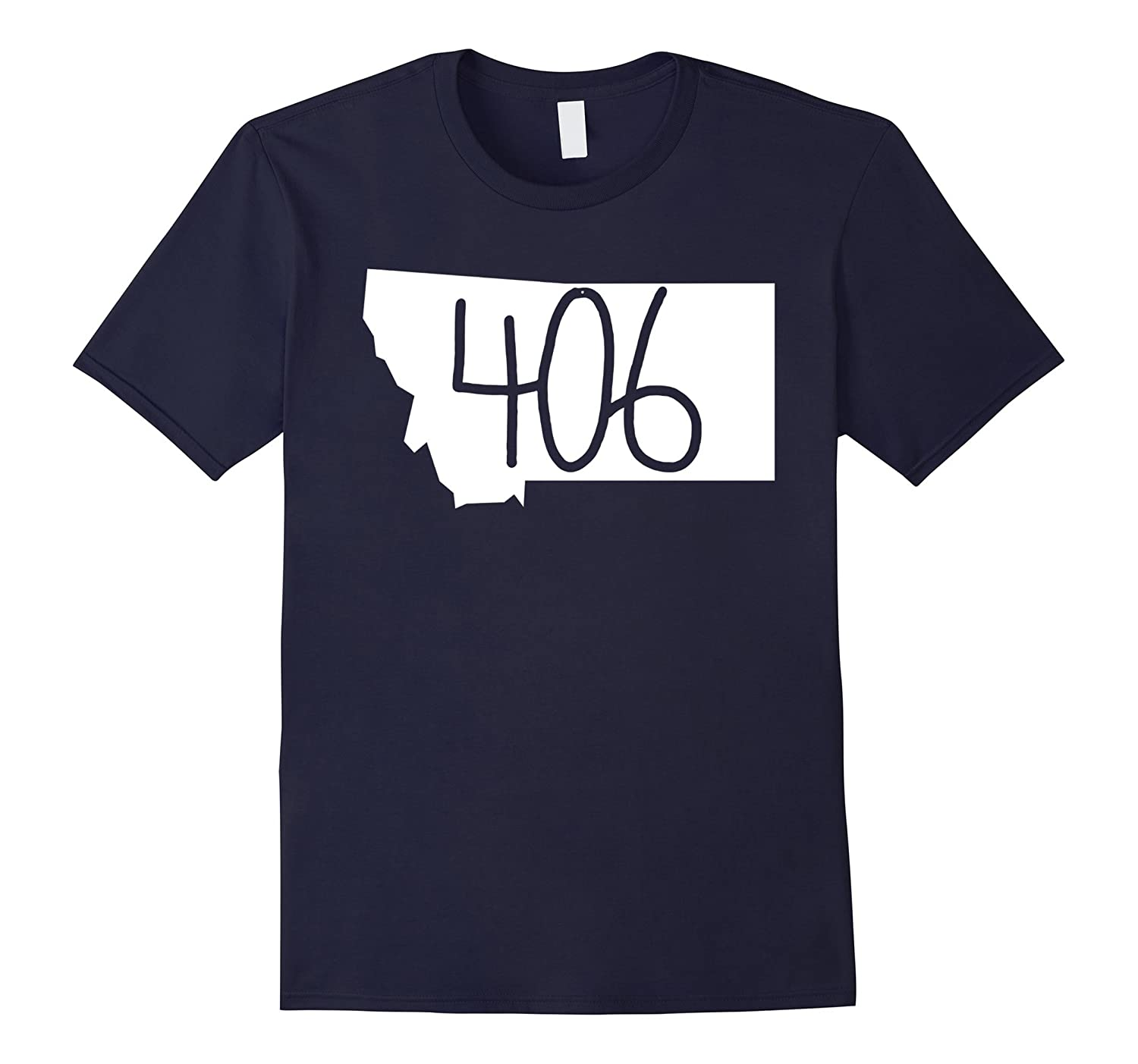 406 Montana T-Shirt State Local Pride Home Travel Adventure-T-Shirt