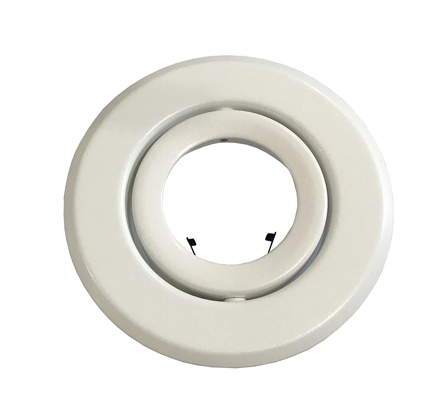 White 4-Inch Line Voltage Trim Recessed Light fit Halo//Juno Adjustable Gimbal Ring Joint Bright Lighting