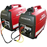 Combo SET Honda Eu2000i and Eu2000 Companion with Parallel Cord Rv Camping