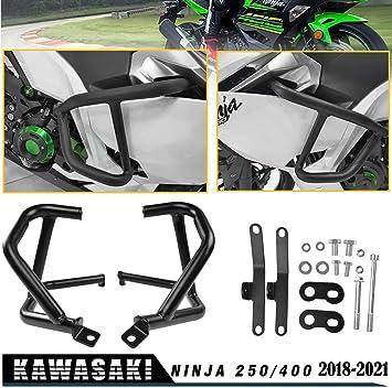 FATExpress Motorcycle Ninja400 Ninja250 Highway Stunt Cage Crash Bar Engine Guard Side Frame Falling Protector Bumper for 2018 2019 2020 Kawasaki Ninja 400 250 Ninja-400 Ninja-250 Accessories 18-20