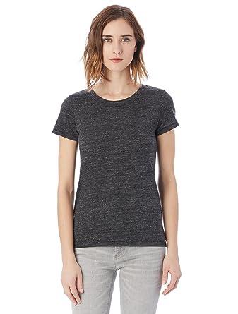 6a96e5709a21e Alternative Women's Ideal Short Sleeve Crew Neck Tee, Eco Black, X-Small