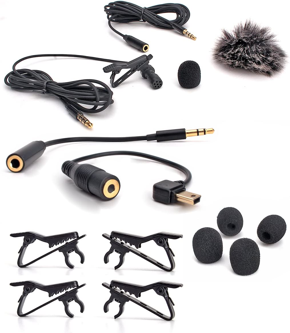 Ipod Touch full set Samsung Android Ipad ZRAMO Metal Clip Small Lapel//Lavalier Microphone Tie Clip for Clip-on Omnidirectional Condenser Microphone for Apple Iphone