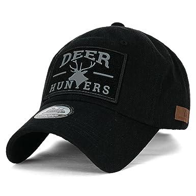 ililily Deer Hunters Velcro Patch Tactical Operator Hat Cotton Baseball Cap 571353b05d2