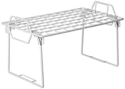 amazon com whitmor wire grid stacking shelf small home kitchen rh amazon com small wire shelf for sale small wire shelving unit