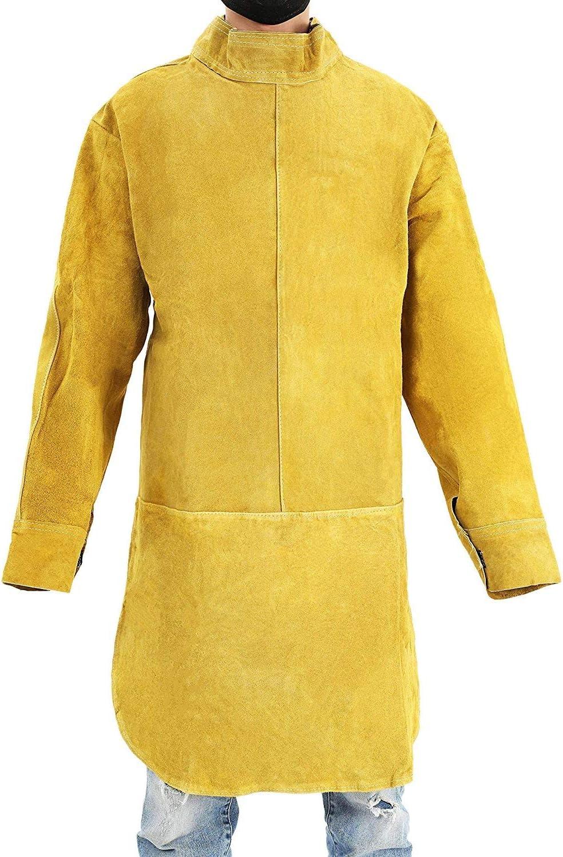 soldador de trabajo ropa protectora ajustable Delantal de soldadura de piel unisex carpinter/ía trabajo de linterna carpinter/ía delantal Blacksmith resistente retardante de llama techo