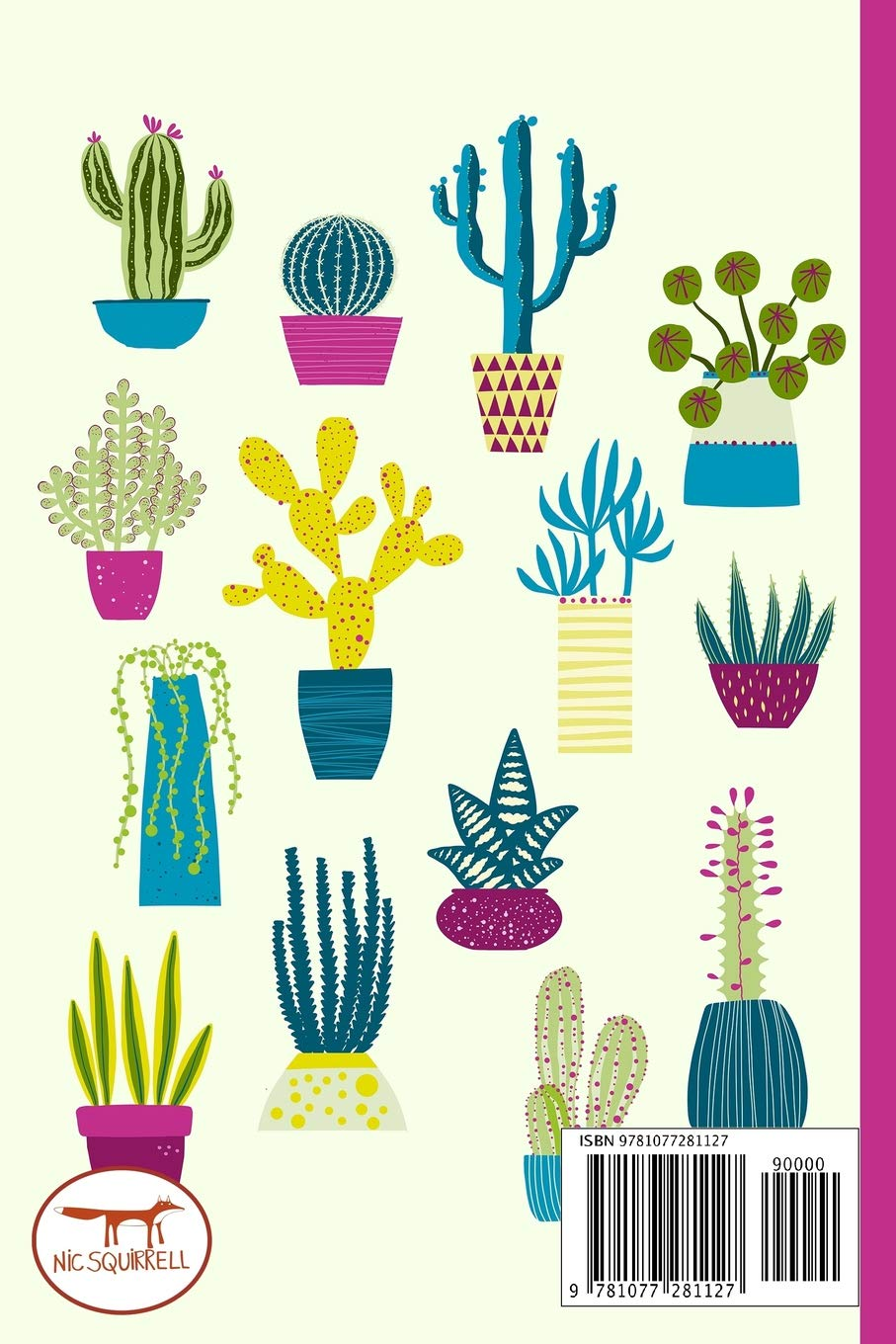 Notes A Blank Squared Paper Journal With Cute Cactus Cover Art Squirrell Nic 9781077281127 Amazon Com Books