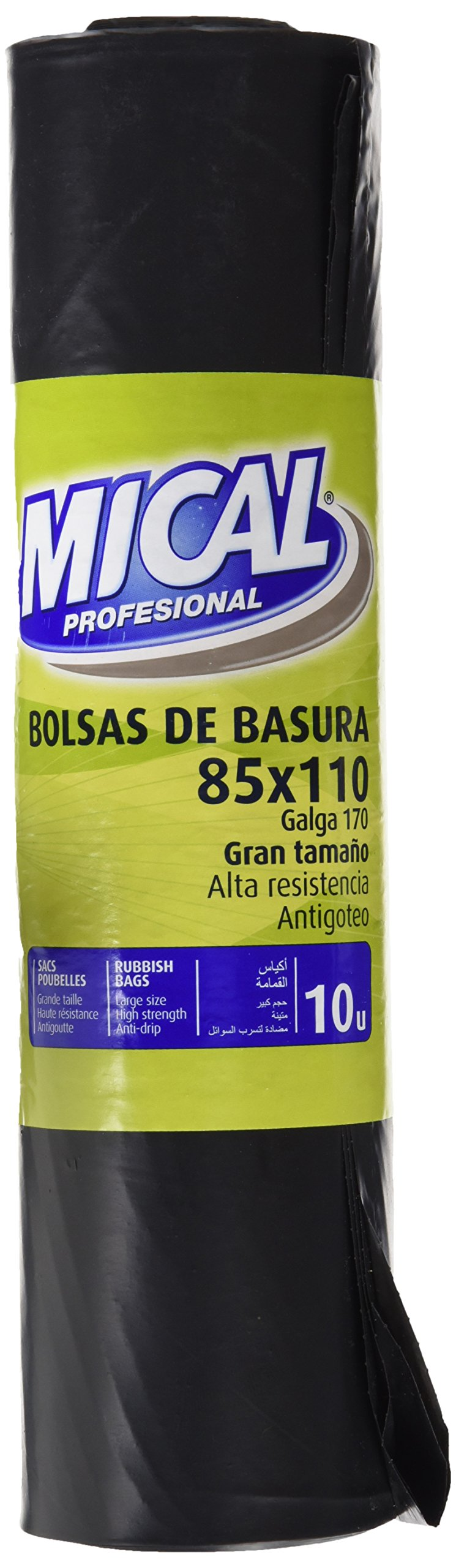 Mical Profesional Bolsas de Basura, Gran tamaño 85 x 110 cm - 10 unidades product