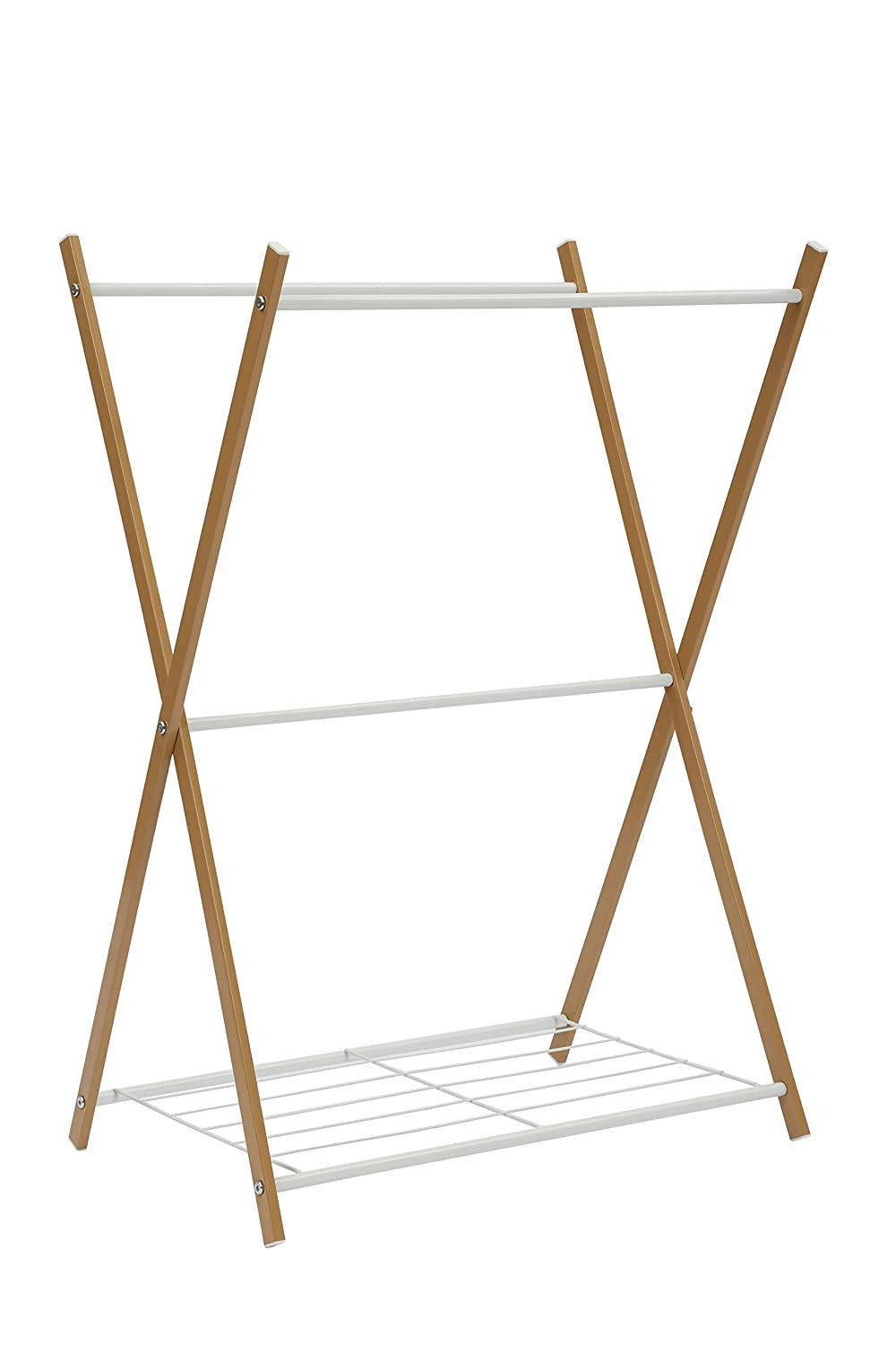 Home-Like Standing Towel Stand Clothes Hanging Rail Garment Rack Freestanding Rail Holder Shelf Bathroom Storage Stand Drying Rack Laundry Towels Hanger 66x47x86cm