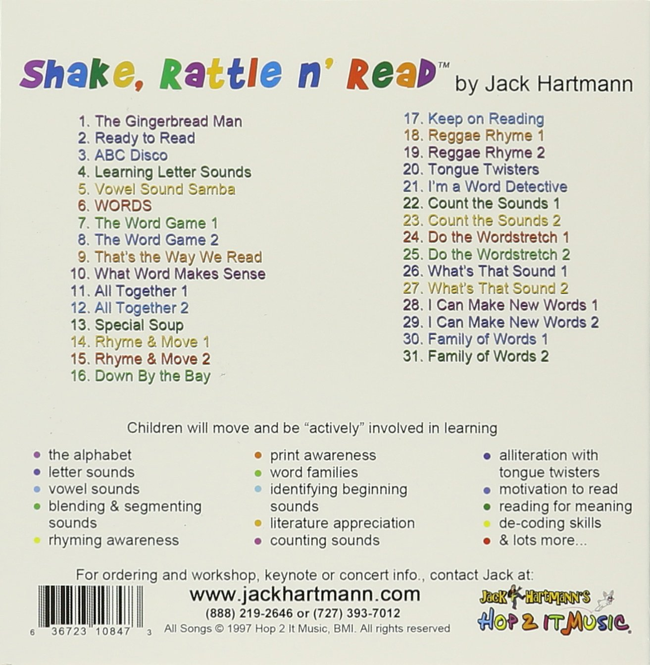 Jack Hartmann Shake Rattle N Read Amazon Music
