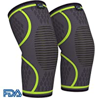 Modvel Unisex Compression Knee Braces (1 Pair)