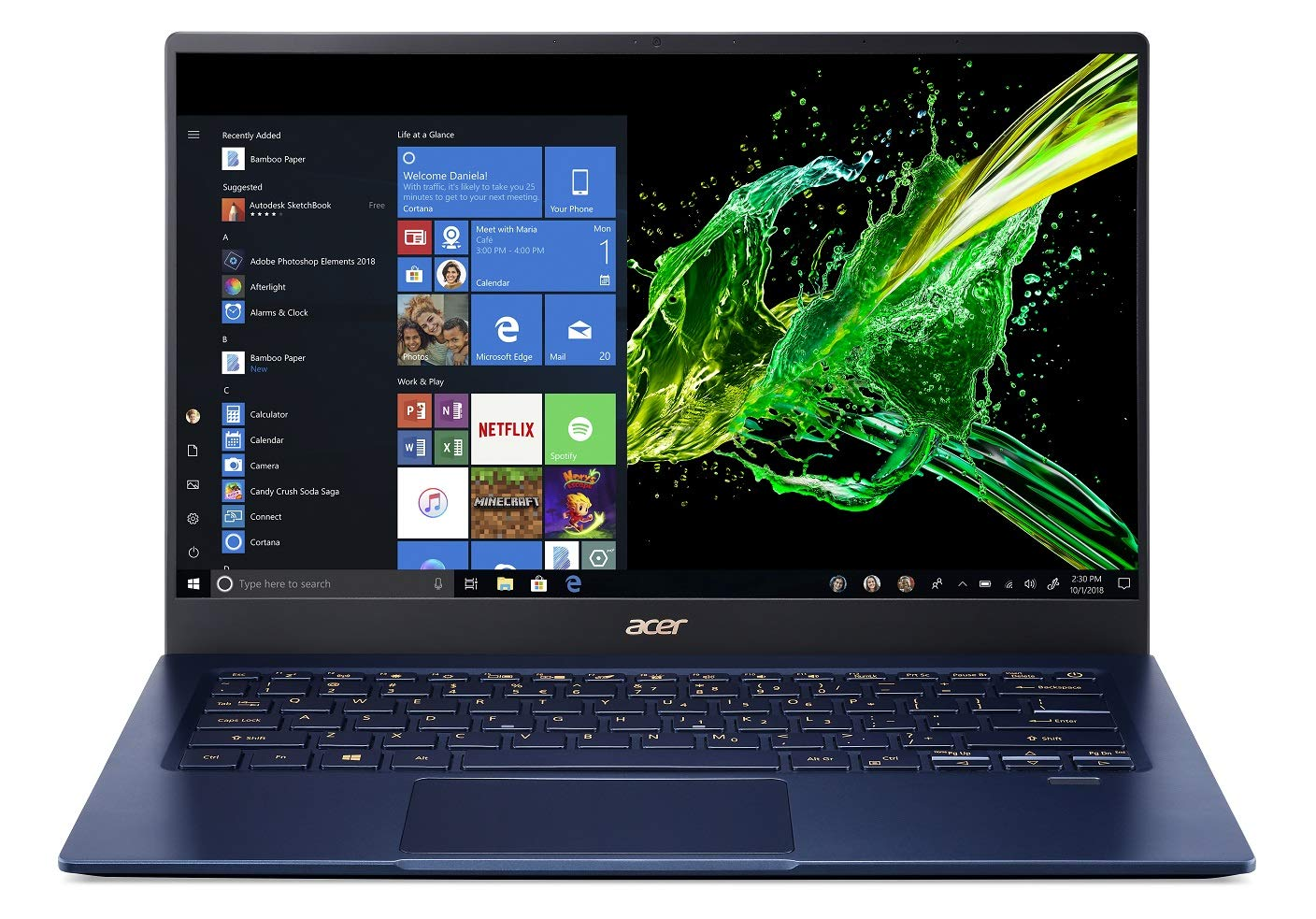 Buy Acer Swift 5 10th Gen Core i5 14-inch Thin and Light Laptop (8GB/512GB  SSD/Windows 10/Charcoal Blue/0.99kg), SF514-54T Online at Low Prices in  India - Amazon.in