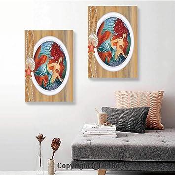 Amazon.com: RWNFA 2 paneles de lienzo, pintura de pared ...