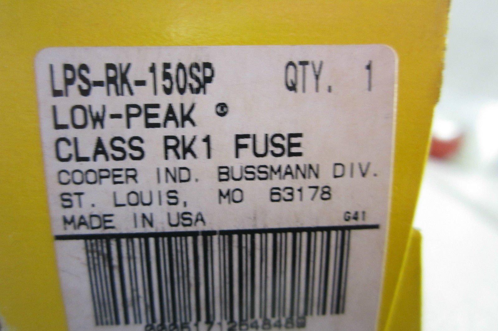 NEW BUSSMANN LPS-RK-150SP FUSE LPSRK150SP