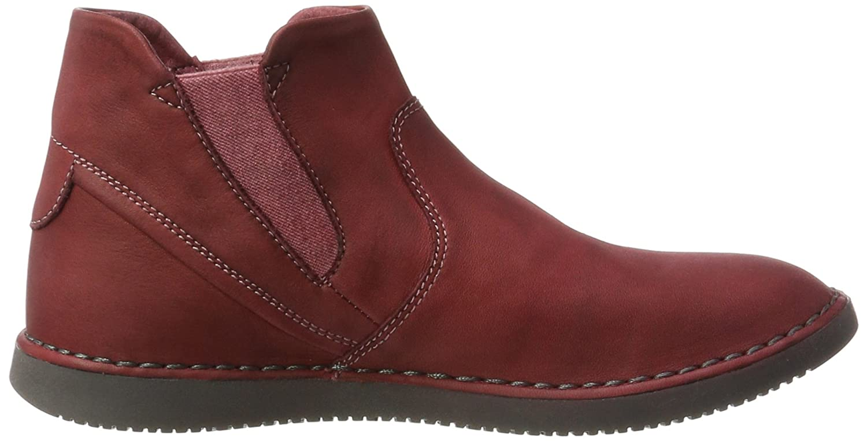 Softinos Damen (Scarlet) Tep413sof Washed Chelsea Stiefel Rot (Scarlet) Damen c78b6c
