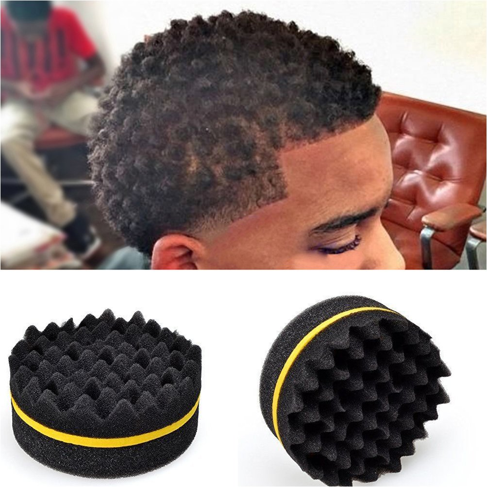 Personal Care Appliances Set Of 4 Hair Brush Sponge Twist Wave Barber Tool For Dreads Afro Locs Twist Curl Black Red To Have Both The Quality Of Tenacity And Hardness